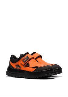 預購 Kiko kostadinov x camper orange velcro strap trainers