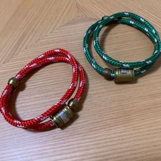 [二手] Miansai 雙圈編織繩手環 綠、紅 #618