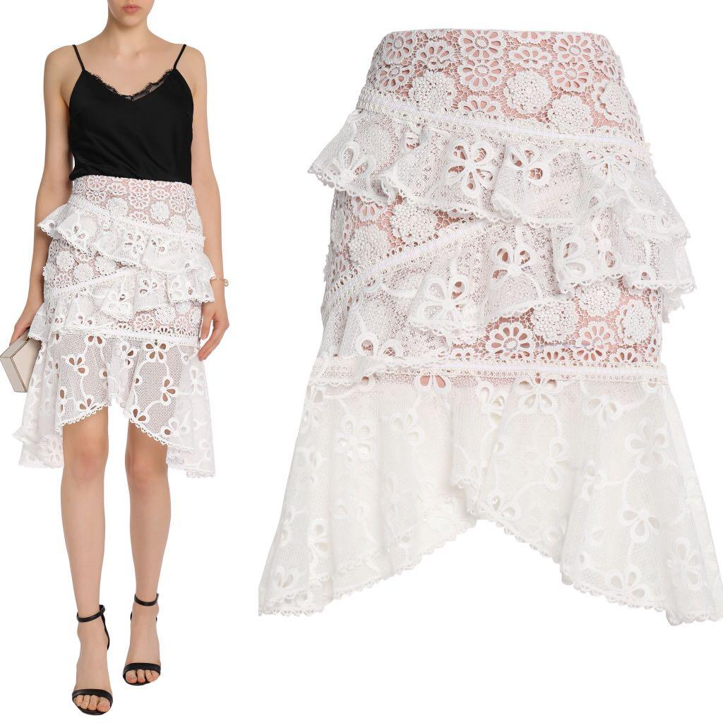 ALEXIS lace high low skirt