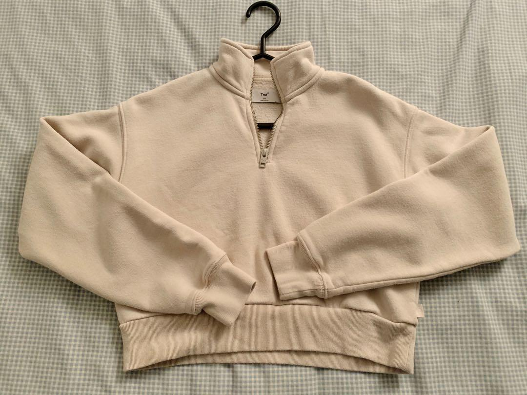 Aritzia TNA perfect 1/4 zip sweater SIZE XS