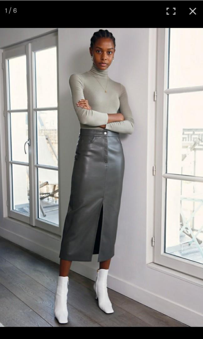 Aritzia Vegan Long Skirt