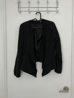 Black open blazer