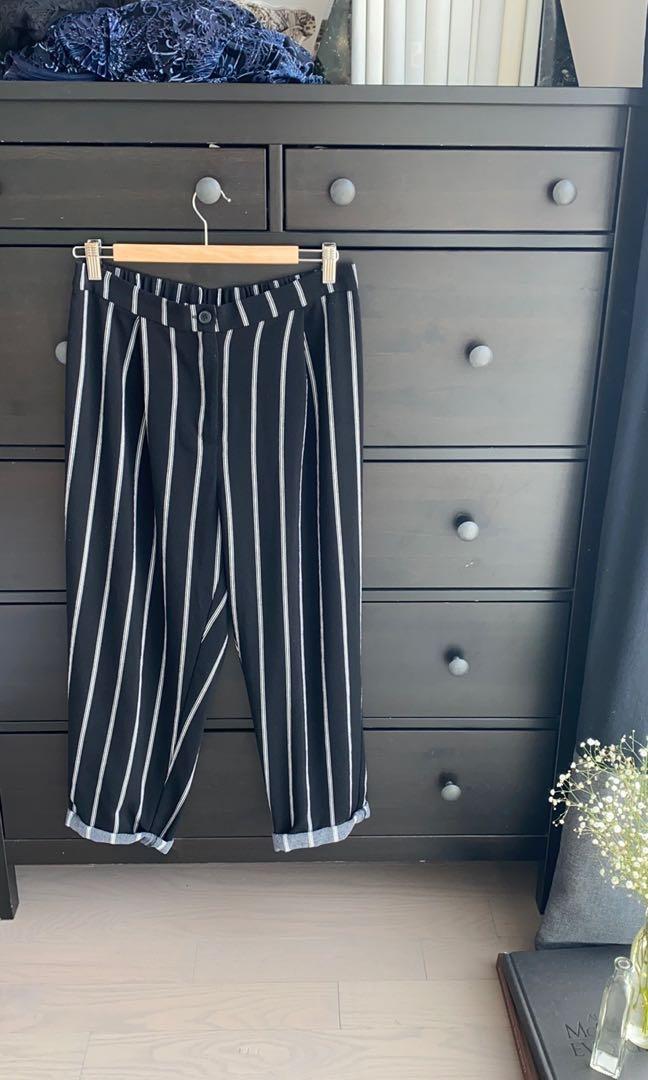 Black Striped Trouser