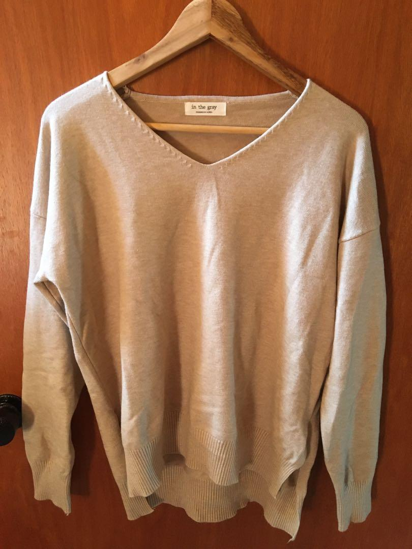 Brand new beige knitted sweater from Korea