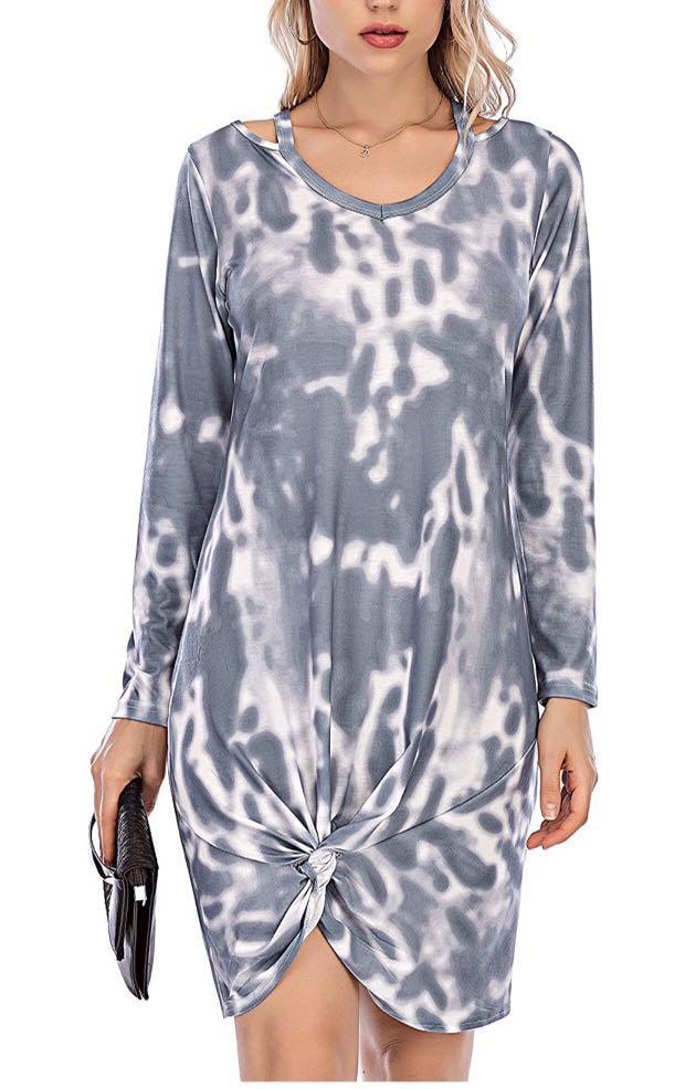 Brand new Women's Casual Dress Long Sleeve Tie Dye(size M)