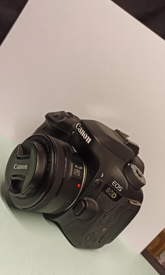 canon 80d + 50mm f1.8 rearly used