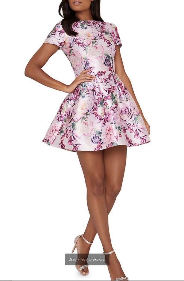 Chi Chi London Ashby floral fit & flare dress- Size 10