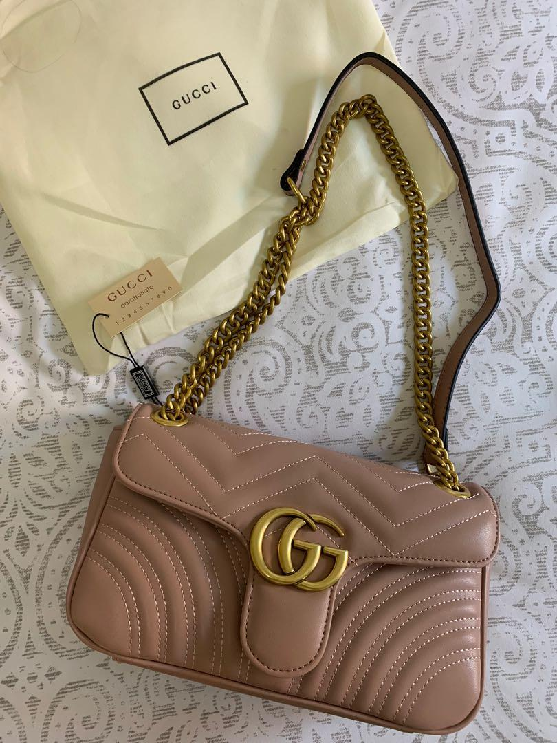 Gucci marmont dusty pink