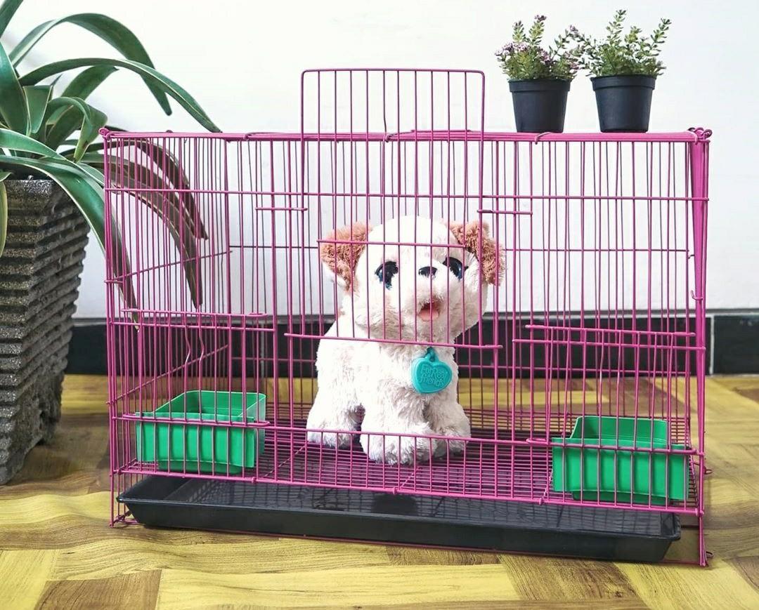 Kandang kucing musang kelinci hamster burung besi jari jari ukuran M