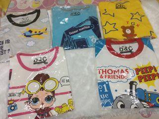 Kaos Atasan Anak Laki-laki & Perempuan size 8
