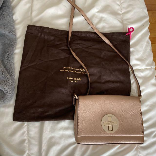 Kate Spade Rose Gold Crossbody Bag
