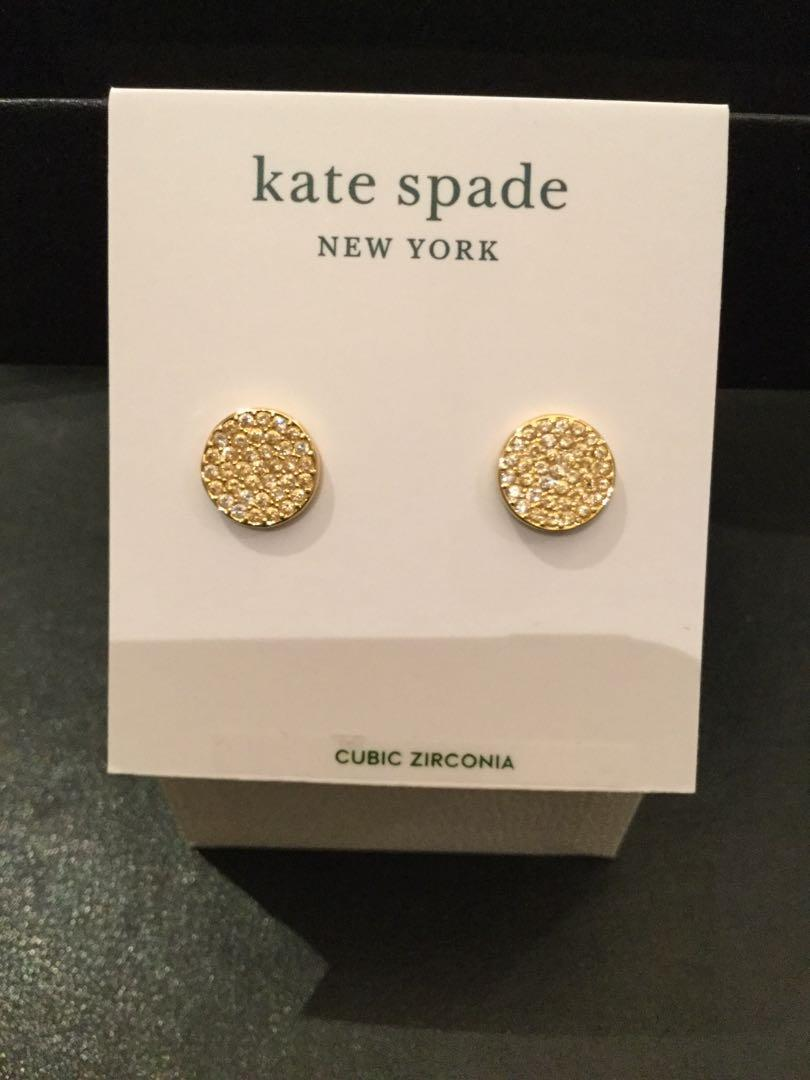 Kate Spade-Shine On Gold & clear earrings