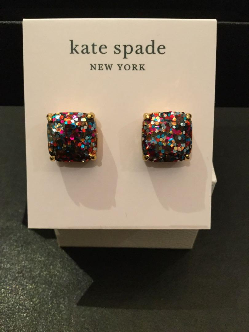 Kate Spade-Square Multi-glitter Earrings