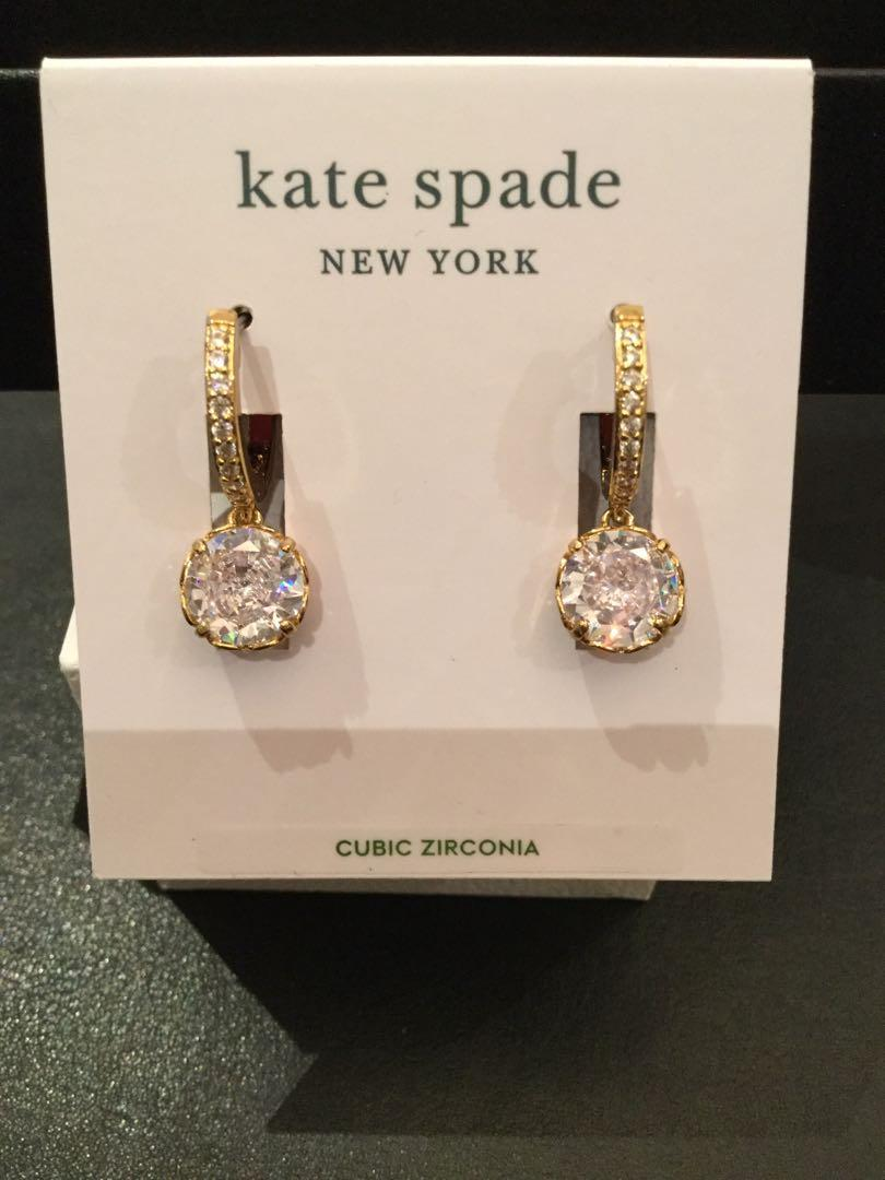 Kate Spade-That Sparkle-Clear &Gold Pave Huggins