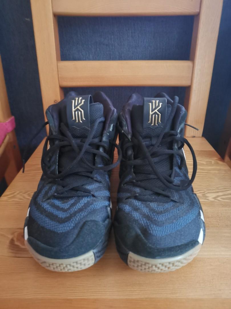 kyrie 4 pitch blue on feet