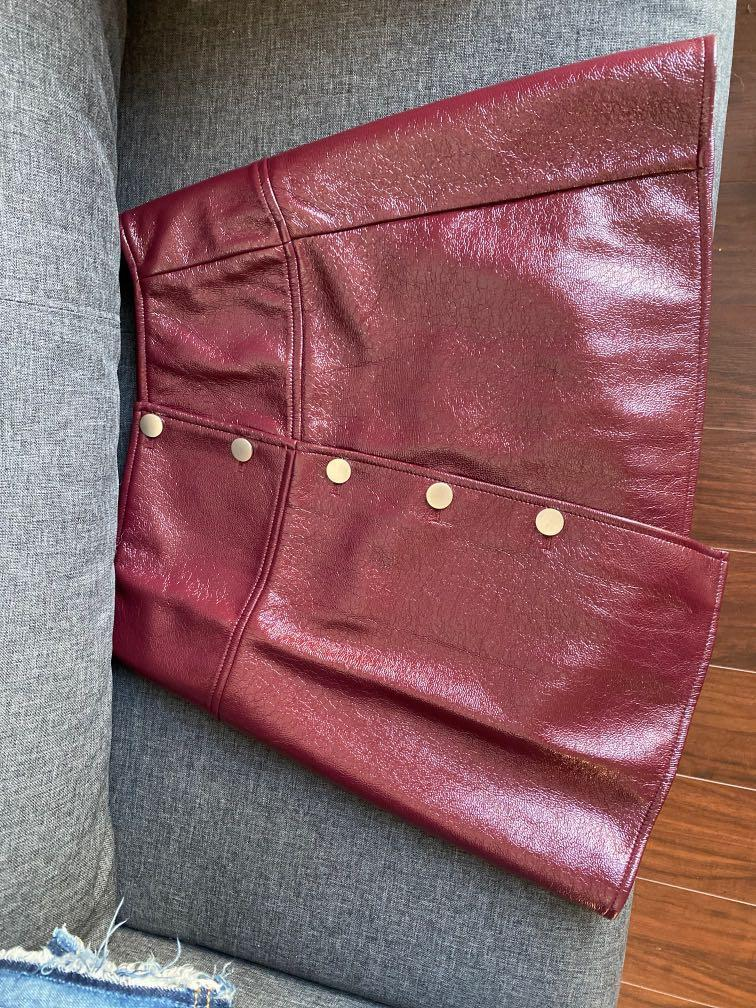 Brand New Leather skirt size M