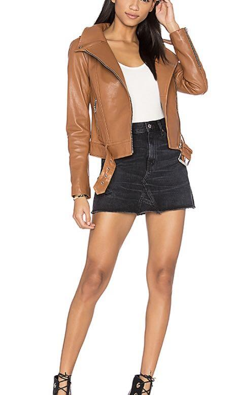 Mackage Hania (Brown/Camel) Leather Jacket XS