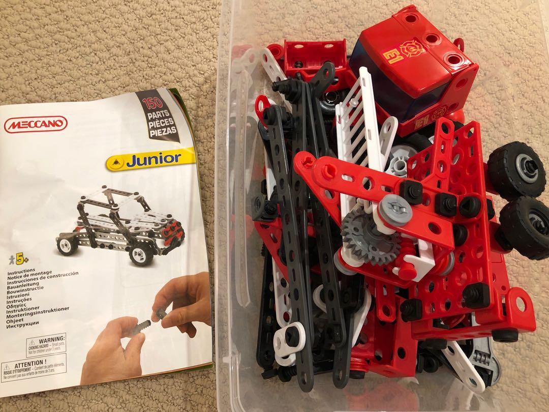 Meccano Junior Construction Set + Instruction Manual