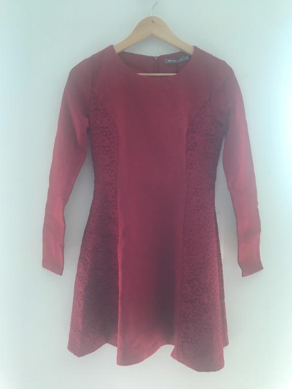 MesAppas Red Skater Dress Size Medium