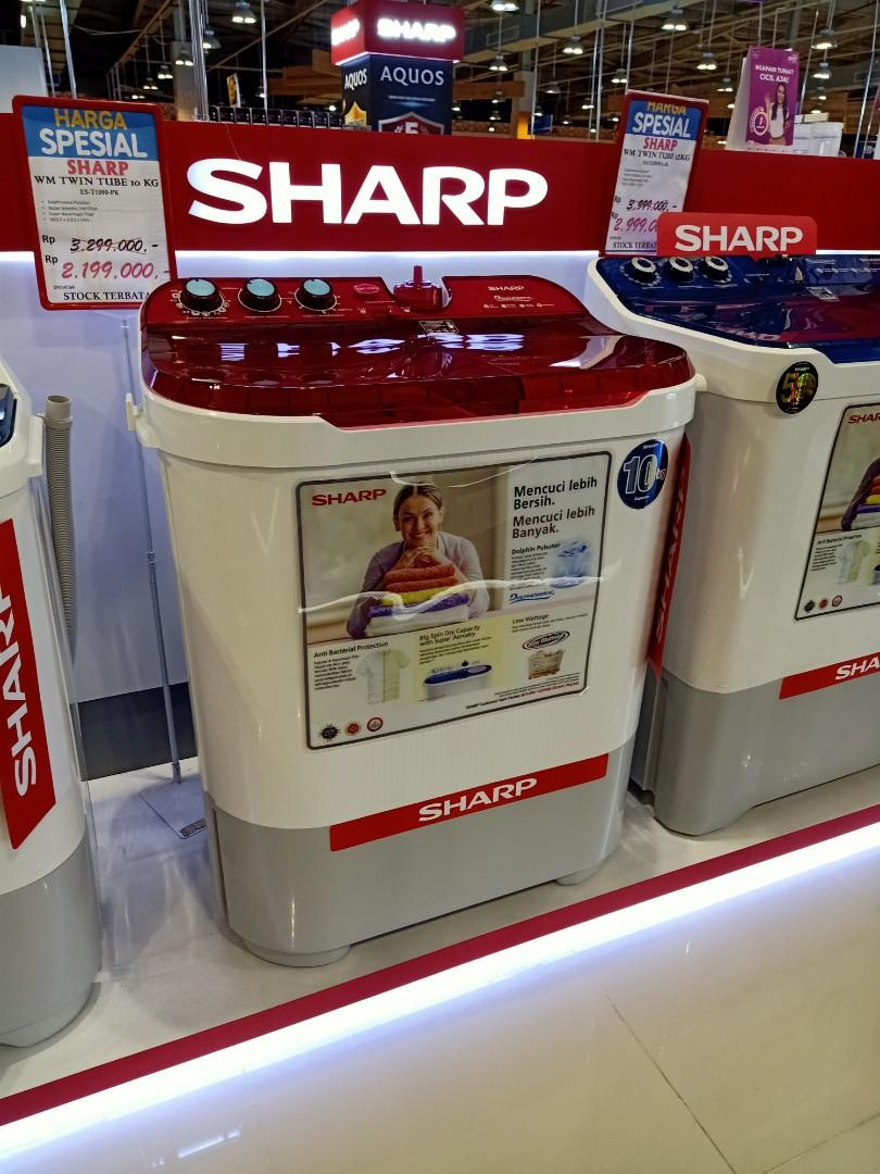Mesin cuci Sharp 10KG bisa Kredit DP 0% Free admin Proses Cepat