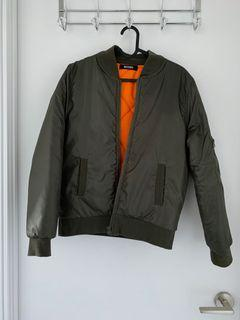 Olive green bomber jacket