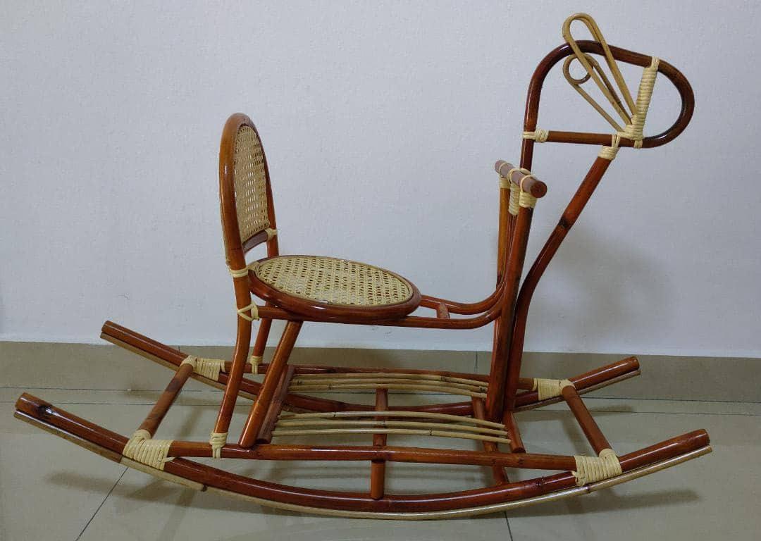 Rattan Rocking Horse Home Furniture Furniture On Carousell