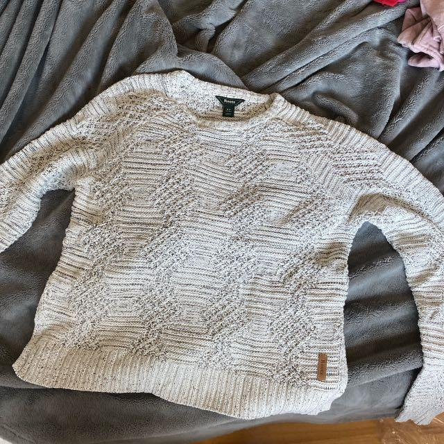 Roots sweater - white with grey accents