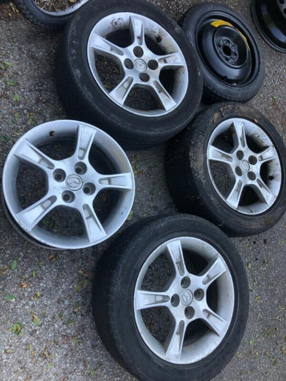 Set of aluminum alloy rims for Honda/Mazda, maybe others