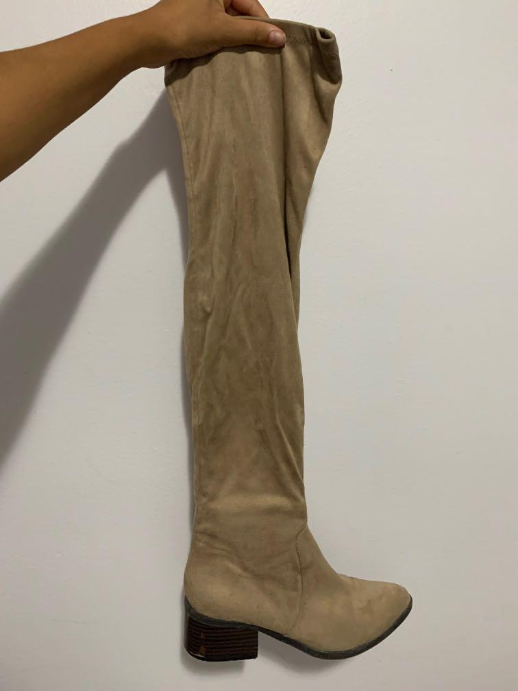 Tan Knee High Boot size 7