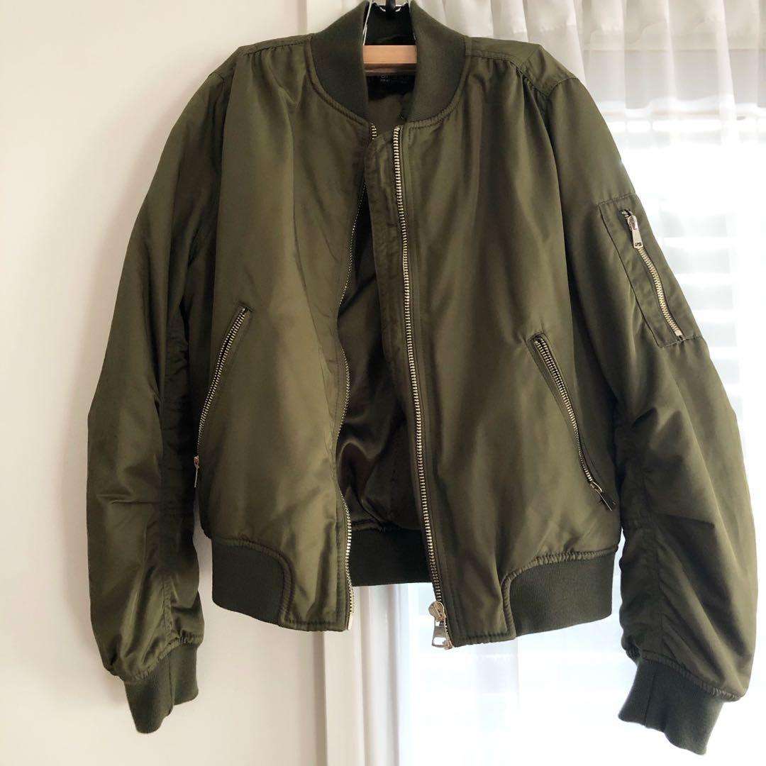 Topshop Green Bomber Jacket