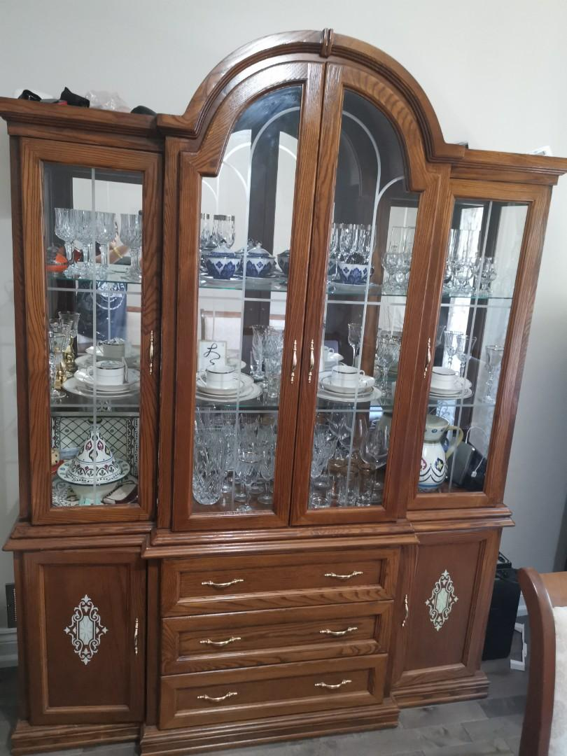Wooden hutch and table with chaira