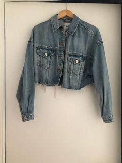 Zara cropped jean jacket