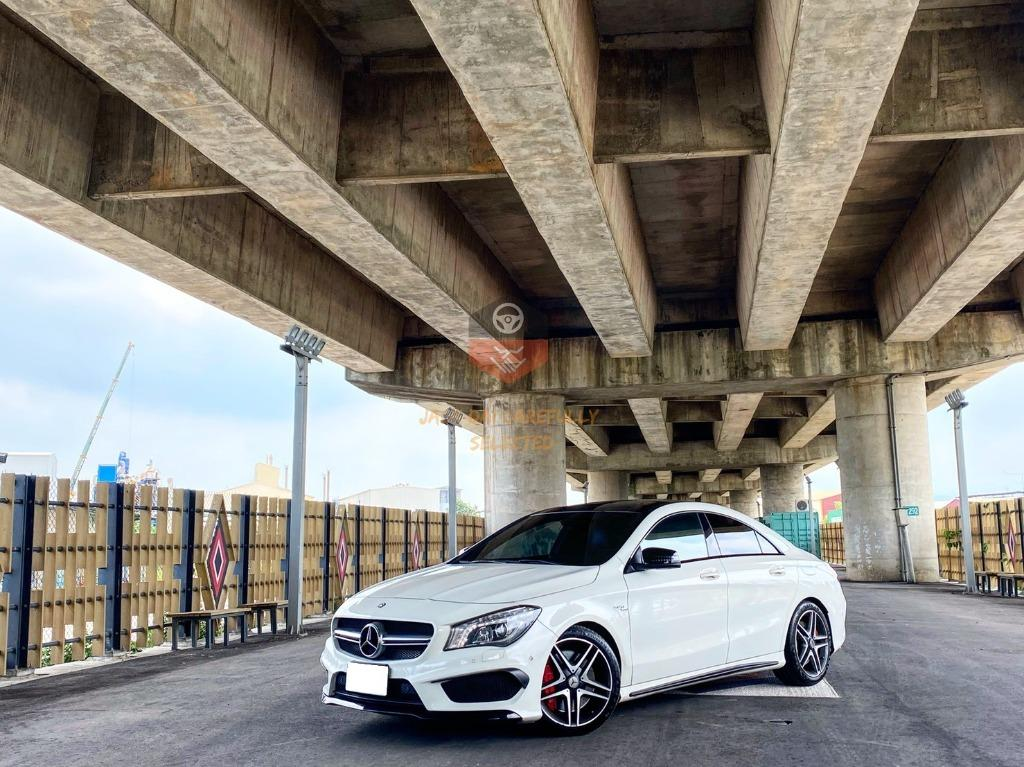 🔥2014 CLA45 白 🔥稀有AMG轎跑 正AMG 只賣100萬 可全額貸款🔥買車送1年兩萬保固