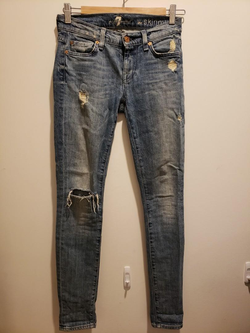 7 for all Mankind Jeans skinny size 24