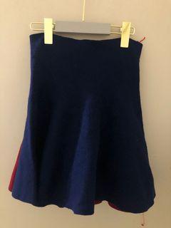 藍色彈力短裙