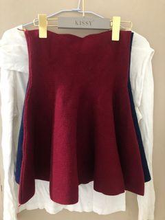 紅色彈力短裙