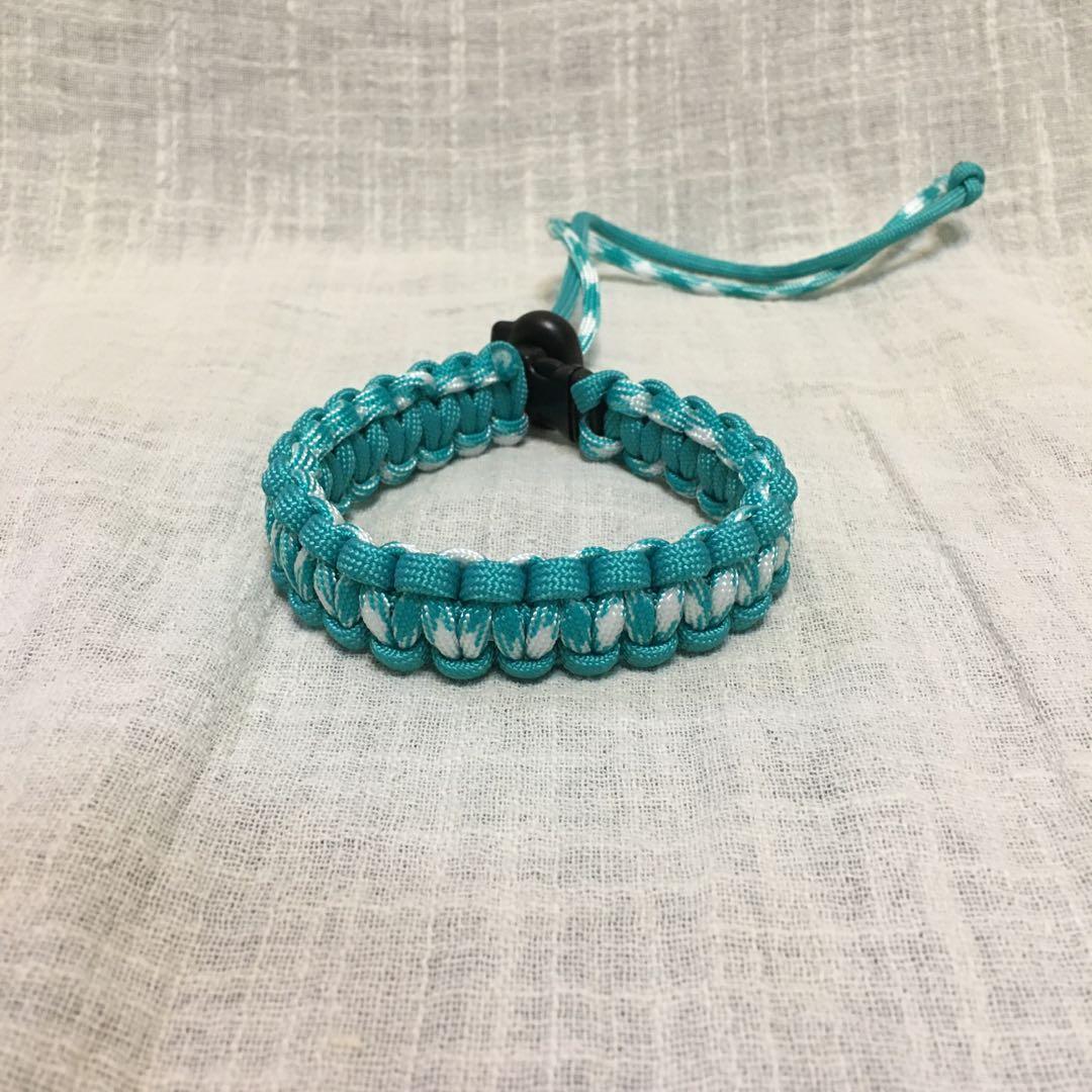 編織▸湖水綠◂傘繩飲料袋