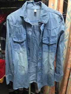 藍色丹寧薄外套
