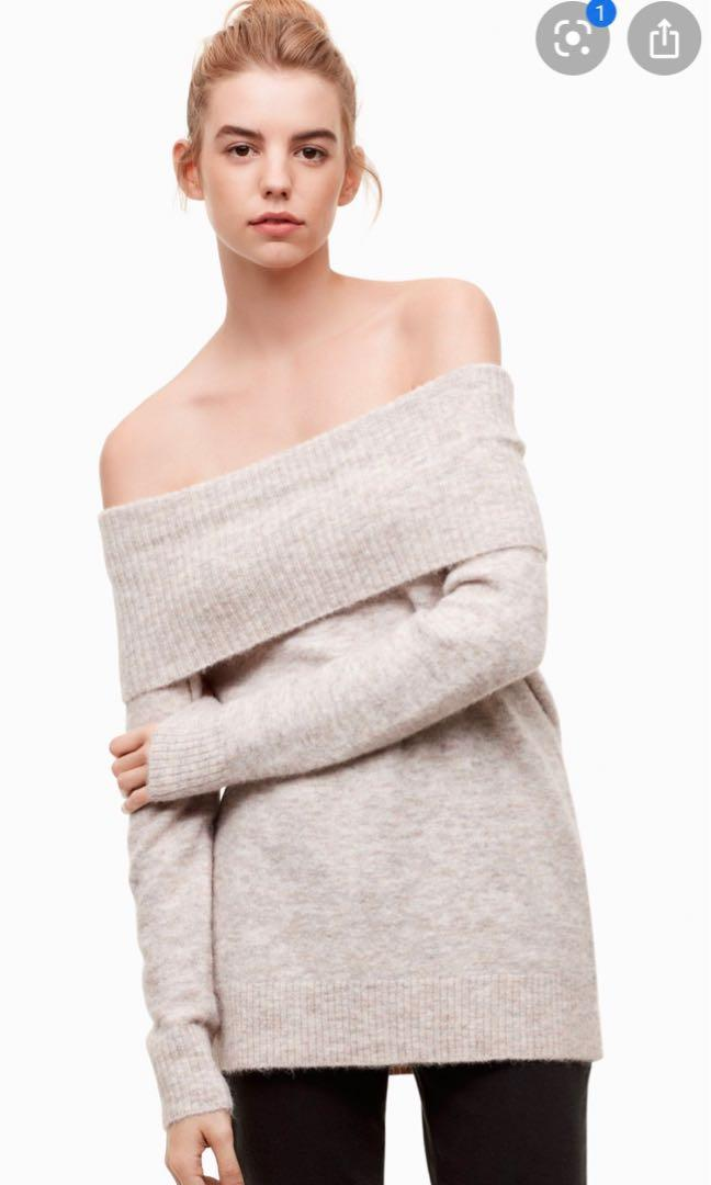 Aritzia Wilfred Free Faretta Off-the-shoulder Sweater