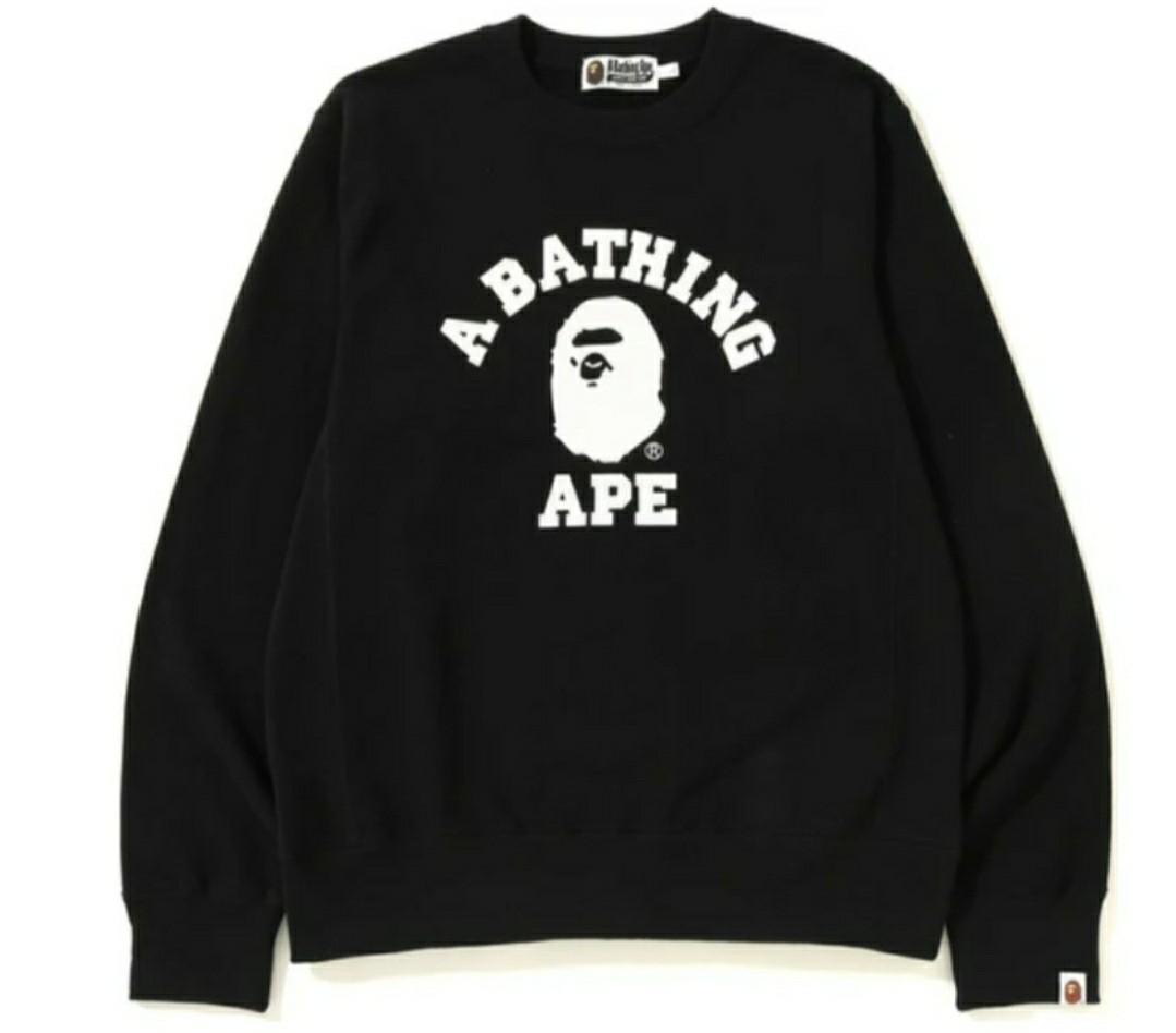 BAPE - A BATHING APE CREWNECK (M) BNWT