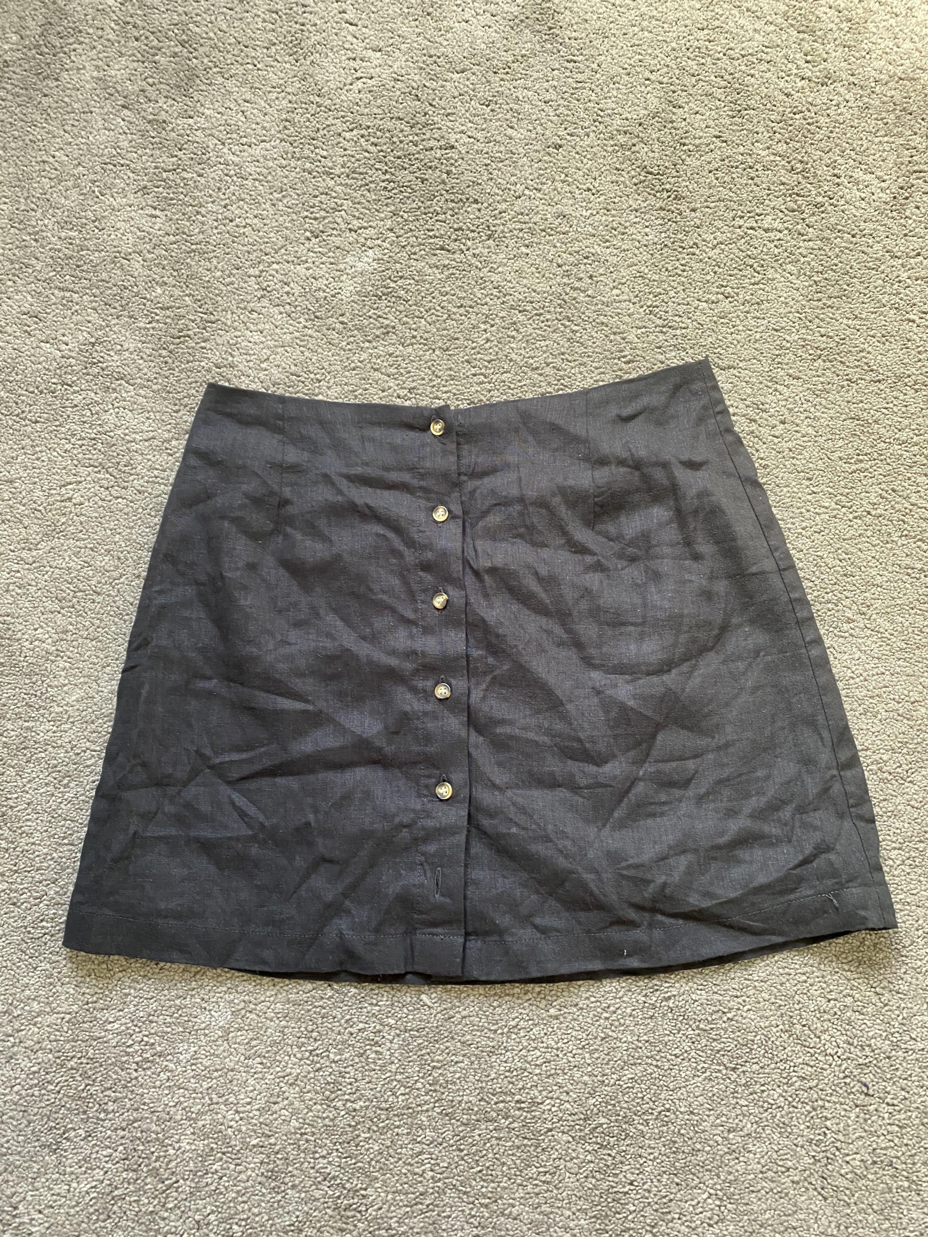 Black Button up skirt