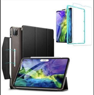 Brand new Case for iPad Pro 11 (2020 & 2018) with Tempered-Glass Screen Protector