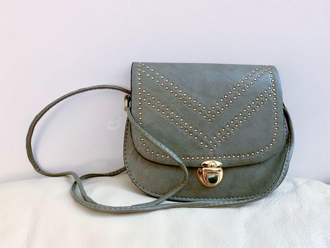 Brand new faux leather crossbody bag