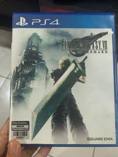 Final Fantasy 7 Remake PS4 with Code