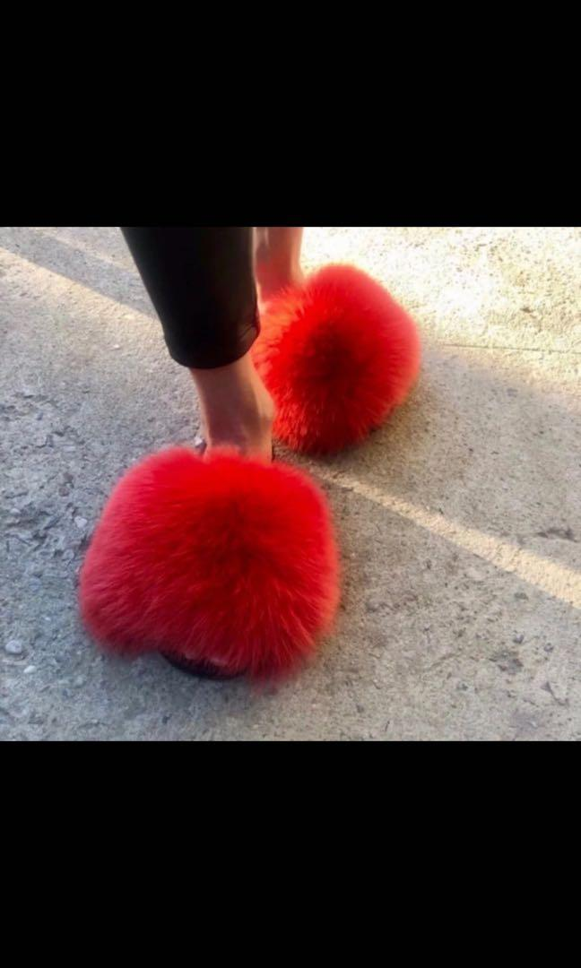 Full Red Fur Slides