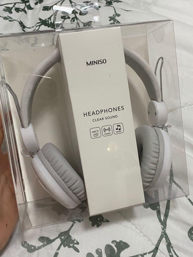headphone miniso clear sound KM 810 - white