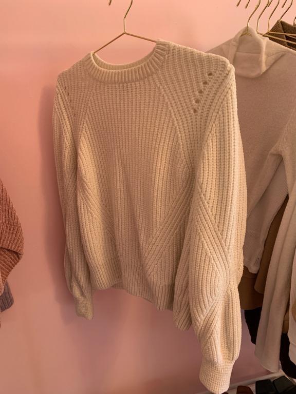 H&M Plush White Sweater