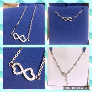 Infinity design sterling silver anklet