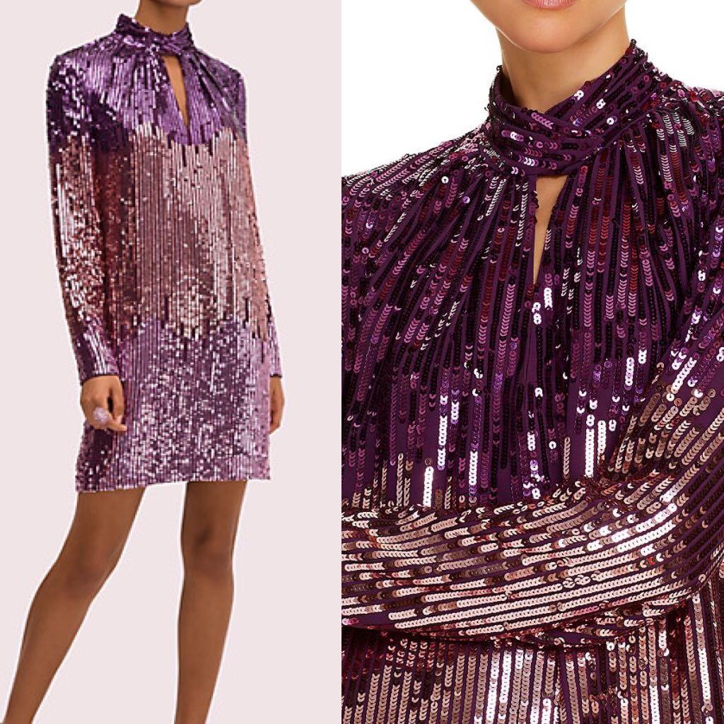 Kate spade ombré sequin shift dress