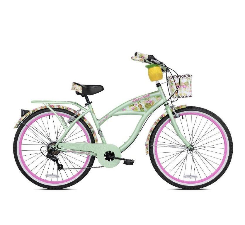 "Kent Margaritaville 26"" Pineapple Women Cruiser Bike Bicycle Green New"